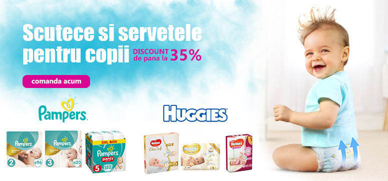 Scutece Pampers si Huggies
