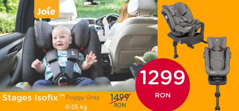 Stages Isofix Foggy Gray 0-25 kg