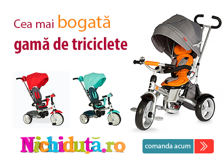 Cea mai bogata gama de triciclete