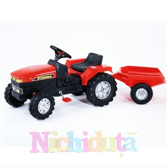Tractor Farm cu pedale si remorca