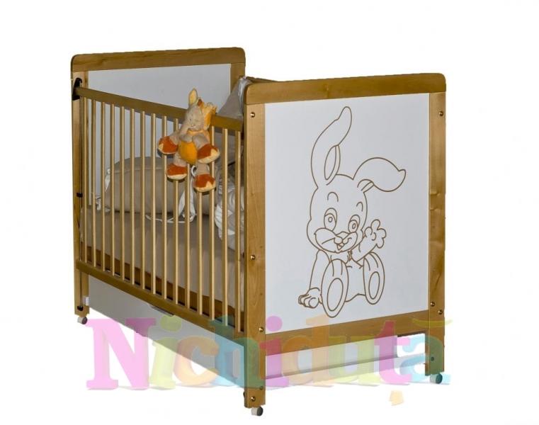 Patut din lemn cu sertar Rabbit