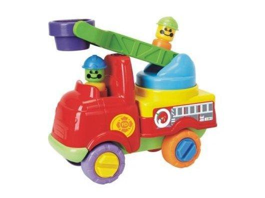 Camion de pompieri cu scara pt intervent