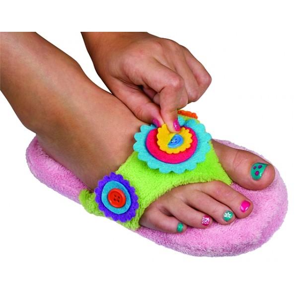 Kit pentru pedichiura cu papuci de casa