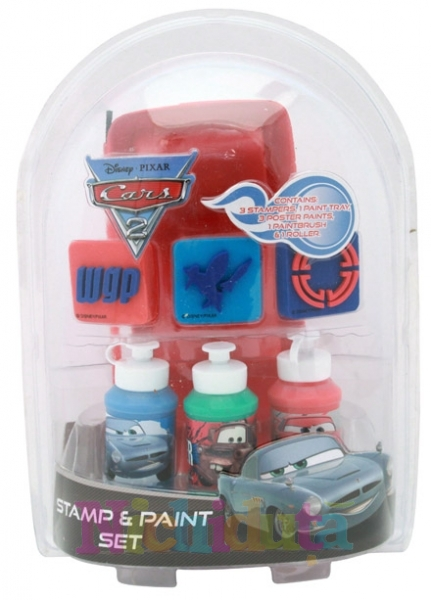 Set stampile si pictura Disney Cars