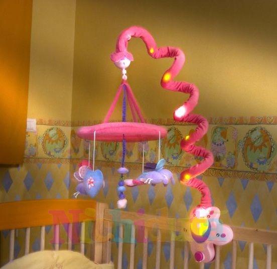 Carusel muzical cu lumini Fluture