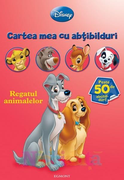 Carte cu abtibilduri Regatul animalelor