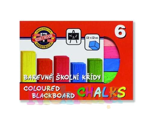 Creta scolara, 6 culori