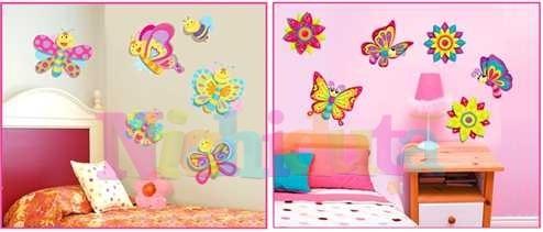 Decoratiuni perete 3D - Fluturi