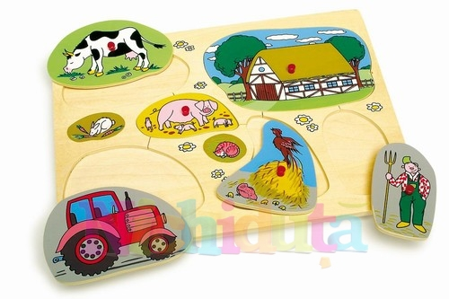Fermierul vesel - puzzle 7 piese