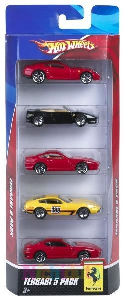 Masinuta Ferrari 5buc.set, Hot Wheels 1