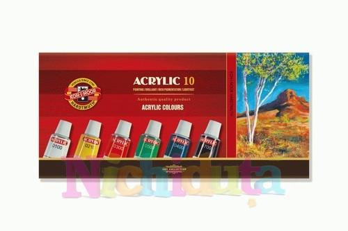 Set 10 culori vopsea acril - 16 ml
