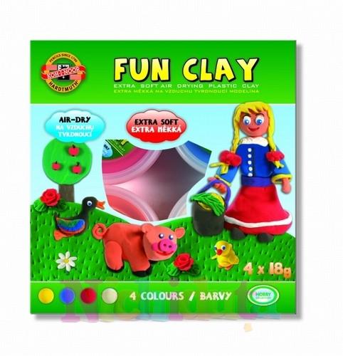 Set 4 culori plastilina de modelat Fun Clay