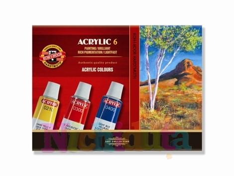 Set 6 culori vopsea acril - 16 ml
