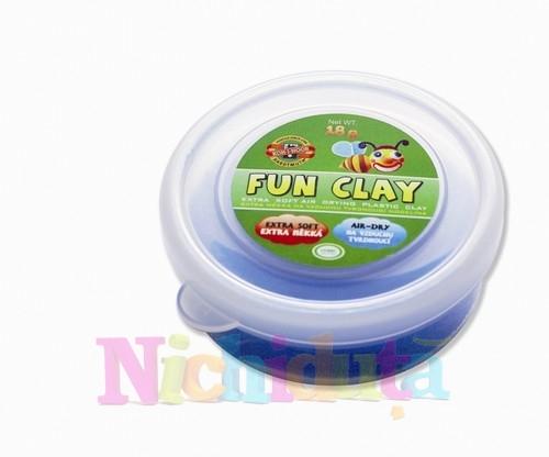 Set 8 culori plastilina de modelat Fun Clay