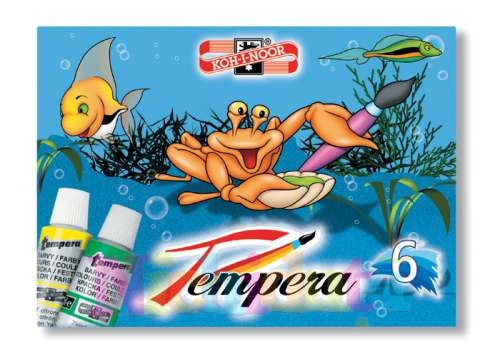 Tempera - 6 culoriset - tub 16 ml