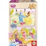Puzzle Printesele Disney 2 x 16