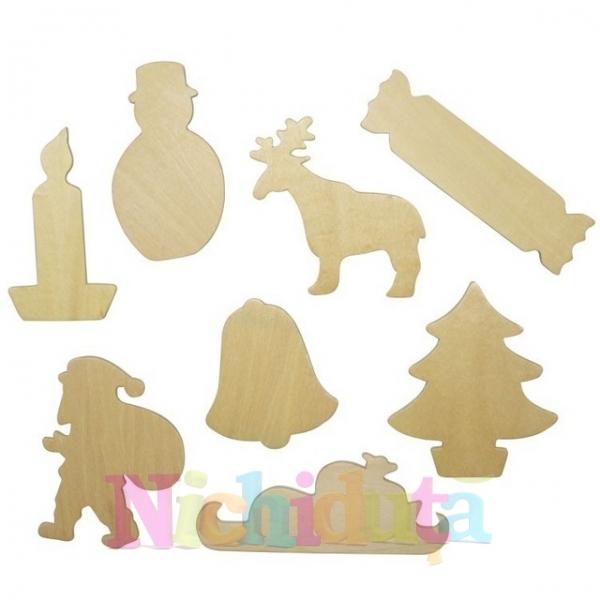 Decoratiuni din lemn-sabloane de Craciun