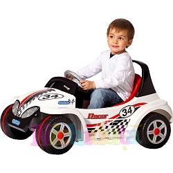 Masinuta electrica Mini Racer Alba