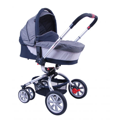 Carucior Matteo Sistem Complet 2 in 1 Silver