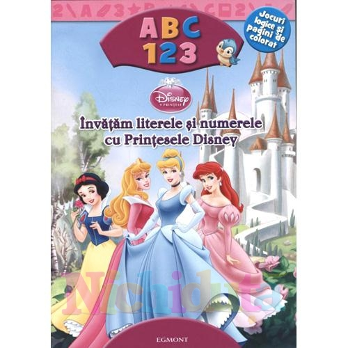 Carte Invatam Literele si Numerele cu Printesele Disney
