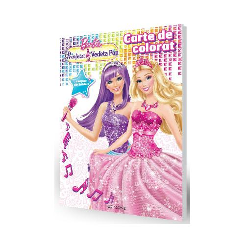 Carte De Colorat Barbie Printesa Si Vedeta Pop Nichidutaro