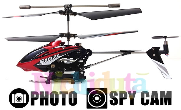Mini elicopter cu telecomanda si CAMERA VIDEO, Syma S107C