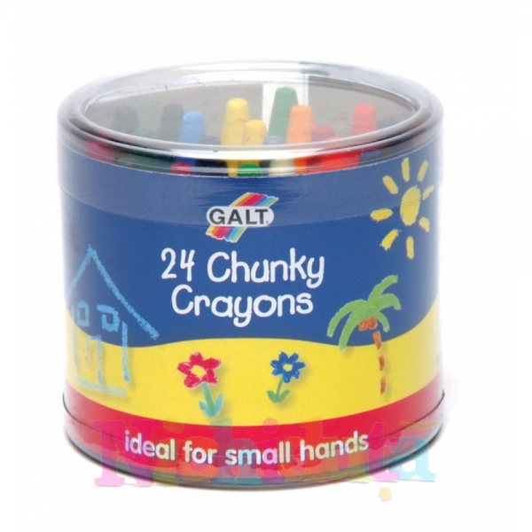 Set 24 creioane cerate 24 Chunky Crayons