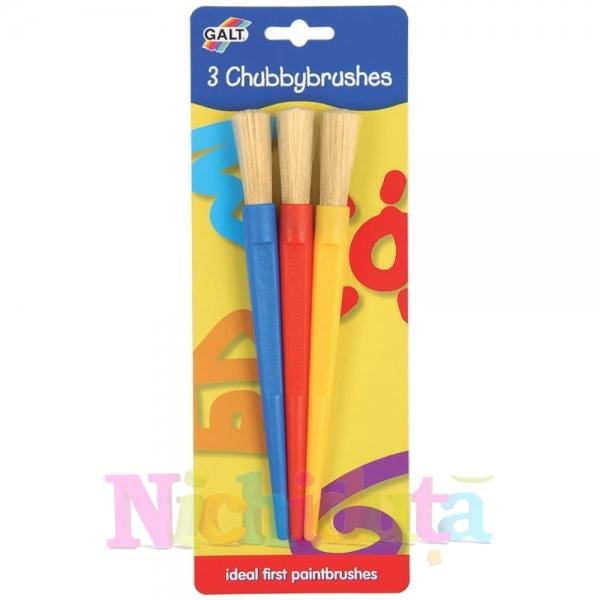 Set 3 pensule groase 3 Chubbybrushes