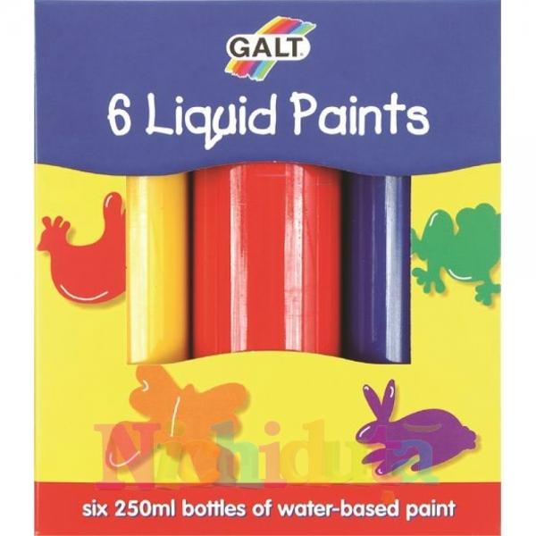 Set 6 acuarele lichide 6 liquid paints