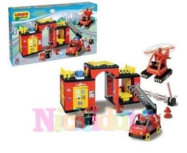 Set cuburi statie Pompieri