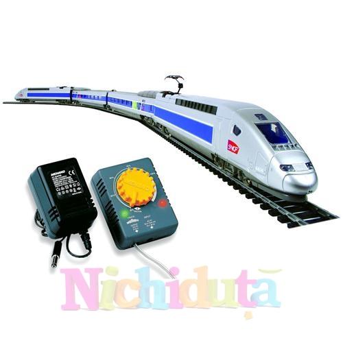 Trenulet Electric TGV POS cu Macheta