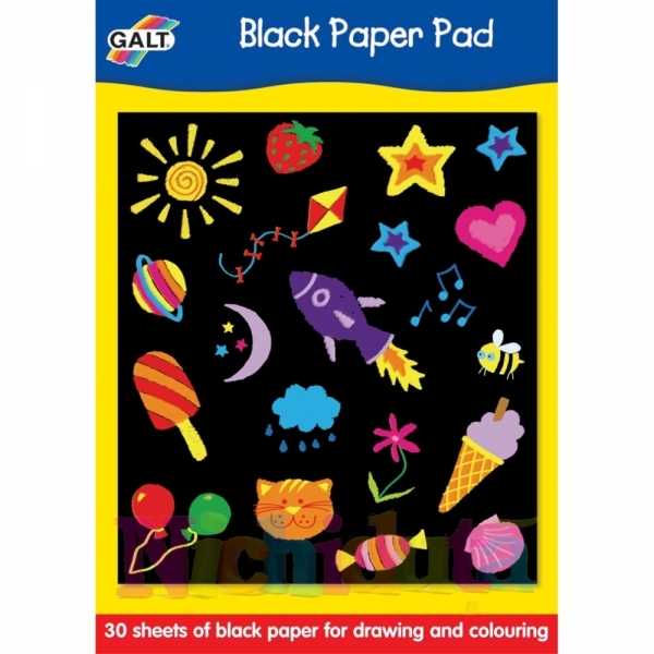 Bloc desen coli negre Black Paper Pad