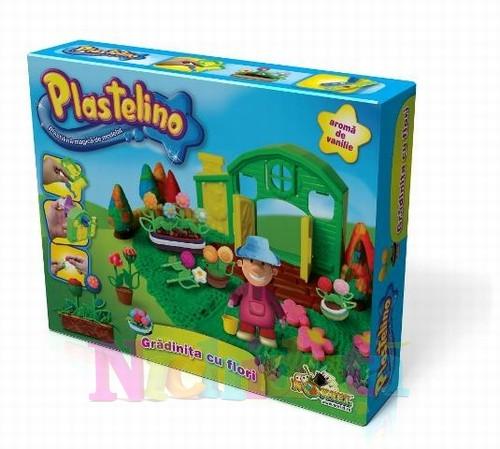 Plastelino - Gradinita cu Flori - Set de Plastilina