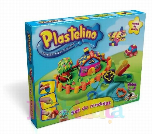 Plastelino - Set de Plastilina cu Unelte 1