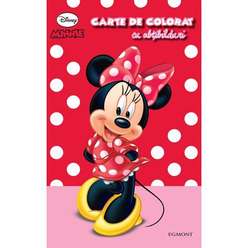 Carte de Colorat cu Abtibilduri Minnie Mouse