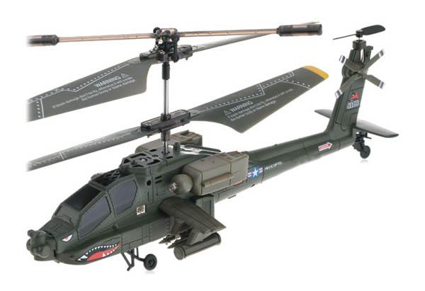Elicopter cu telecomanda S109G US Army Apache cu Gyro, 3 canale, de interior
