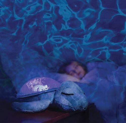 Lampa de veghe Tranquil Turtle Purple