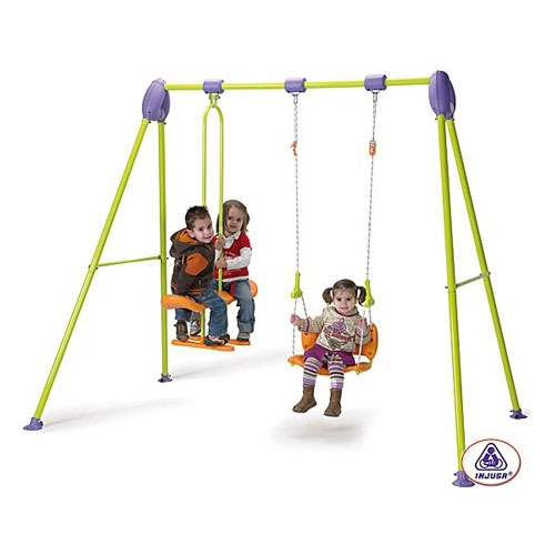 Leagan metalic pentru 3 copii Injusa Junior Swing