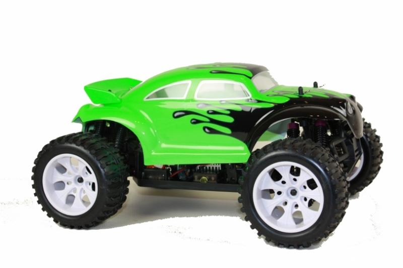 Masinuta OFF-ROAD Baja Splat Attack Verde, Scara 110, 4WD 2.4Ghz