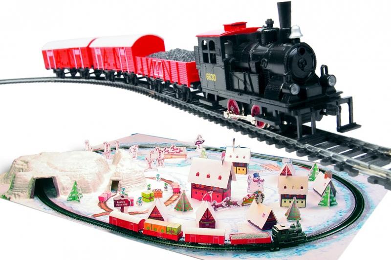 Trenulet electric Polar Express cu diorama