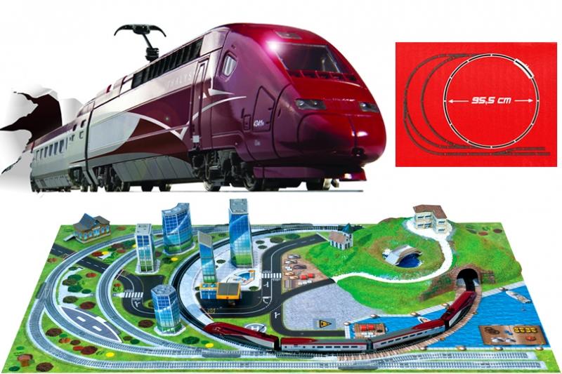 Trenulet electric de viteza Thalys cu diorama