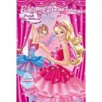 Carte de Colorat Barbie in Pantofii Roz de Balerina