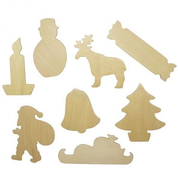 Decoratiuni din lemn - sabloane de Craciun