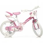 Bicicleta pentru fetite Hello Kitty diametru 16 inch