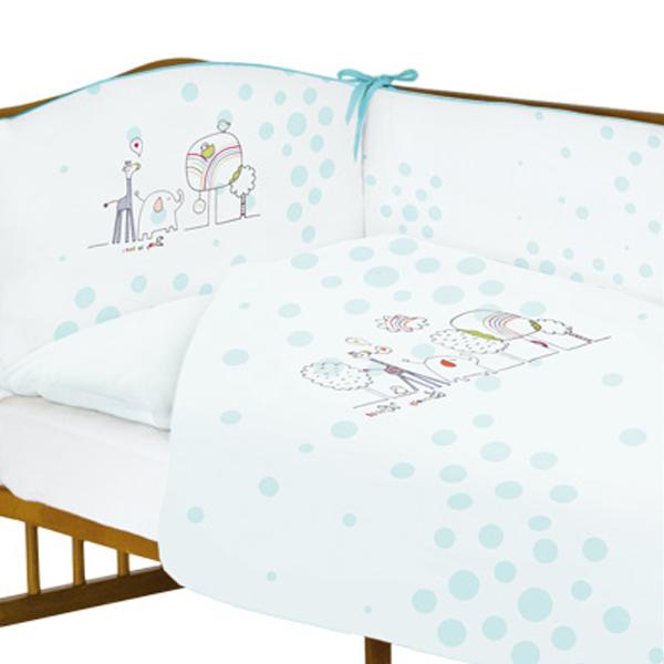 Lenjerie de pat cu 3 piese Animals Blue