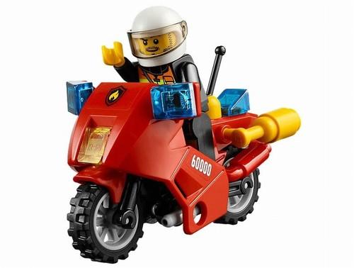 Motocicleta de pompieri LEGO