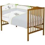 Lenjerie de pat  cu 3 piese Ceba Baby Zebra Gri