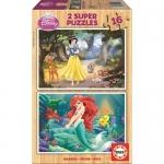 Puzzle Alba ca Zapada si Ariel 2x16