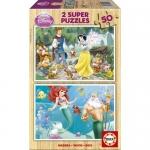 Puzzle Alba ca Zapada si Ariel 2x50