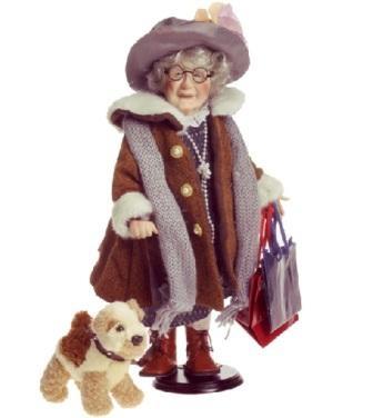 Bunica cu catel la cumparaturi - 117950